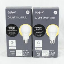 Lot Of 2 C-Life Smart LED 60-Watt A19 Warm White Dimmable Replacement Light Bulb