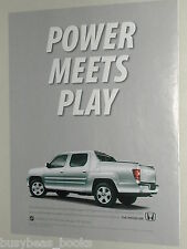 2010 Honda advertisement page, Honda Ridgeline, pickup truck