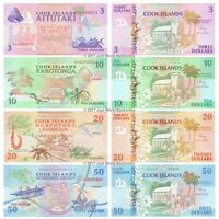 Cook Islands 3 + 10 + 20 + 50 Dollars 1992 Set of 4 Banknotes 4 PCS UNC