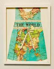 OH THE PLACES YOU'LL GO! BABY GIRL NURSERY PICTURE WALL HANGING MAP OF THE WORLD