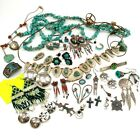 HUGE Lot of Vintage Native American Sterling Jewelry, Odds & Ends, For Repair