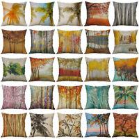 "Maple Leaf Cotton Linen Soft Home Decorative Pillow Case Cushion Cover 18"" New"