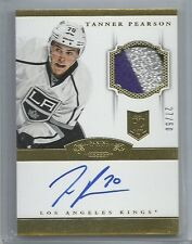 2013-14 PANINI DOMINION RC GOLD PARALLEL PATCH AUTO TANNER PEARSON 27/50 KINGS