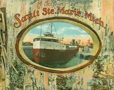 Souvenir of Sault Ste. Marie, Michigan Book (1910s, Paperback)/W.H. Becker