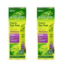 2x Australian Organic TeaTree ANTI-DANDRUFF Shampoo 250ml