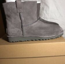 UGG Classic Mini Unlined Booties Charcoal Size 11 Woman's 100% Authentic New