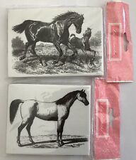 La Blanche Foam Mounted Rubber Stamp - HORSES - Brand New