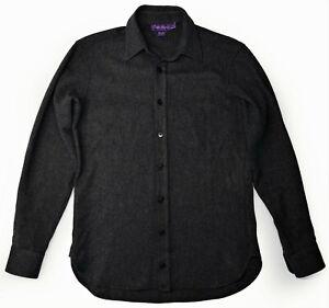 $1,695 RALPH LAUREN PURPLE LABEL 100% Cashmere Herringbone Shirt Italy
