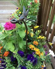 Dragonfly Rain Gauge Watcher Garden Stake Decor Cast Aluminum ~ Spi Home 33071