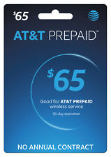 AT&T Prepaid SIM preloaded with $65 plan UNLIMITED DATA (FREE 2 DAYS SHIPPING)