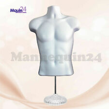 New Male Mannequin Form Standtorso Men Display Trade Show Pant T Shirt White