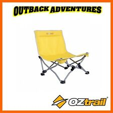 OZTRAIL BEACHSIDE RECLINER BEACH CHAIR - YELLOW