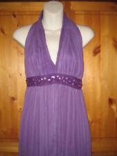 Purple Chiffon Jewelled Halterneck Dress by Hunters & Gatherers UK10 orsmall 12