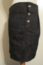 Lola gray mini skirt side buttons Small *FREE SHIPPING* NEW Made in USA