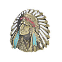 Indian Head Chief Retro Vintage Novelty Metal Belt Buckle Xmas Gift Men WB