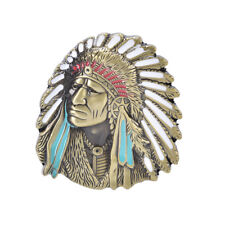 Indian Head Chief Retro Vintage Novelty Metal Belt Buckle Xmas Gift Men Fashion&