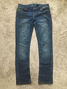 LTB Women's Denim Jeans Straight Leg Dark Blue Low Rise (W31/L34)