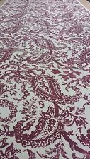 "Lee Jofa Indira Paisley Ruby 100% linen Multipurpose fabric 150"" long piece"