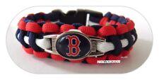Boston Red Sox Paracord Bracelet with MLB Charm Women, Children's + Men Bracelet