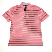 Tommy Hilfiger Pink Striped Short Sleeve Casual Polo Shirt Men's Size 2XL XXL