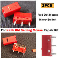 For Kailh GM Gaming Mouse Red Dot Mouse Micro Switch Gaming Button Kits 2PCS/Set
