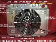 """1967-1970 Ford Mustang Mercury Cougar Radiator With Shroud & Fan 24"""" Factory A/C"""