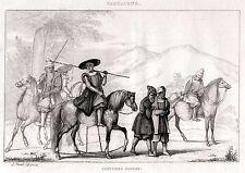 SARDEGNA: COSTUMI SARDI. Regno di Sardegna.Sardinia. ACCIAIO. Stampa Antica.1838