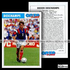 DESCHAMPS DIDIER (FC NANTES, OM MARSEILLE, BORDEAUX...) - Fiche Football 1992