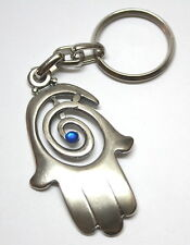 Hamsa Amulet Pendant Charm Key Ring for Luck, Success and Evil Eye Protection