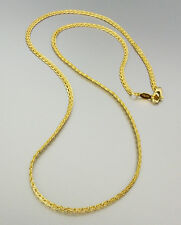 18 kt Gold Plated 18 Inch Weave Chain Necklace