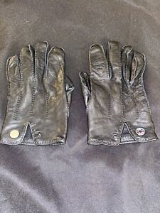 Hermes Black stitched  Pair of Men's Leather Driving Gloves