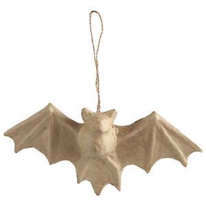23cm Hanging Paper Mache Bat for Halloween Crafts