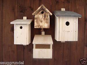 Nistkasten Vogelhaus Vogelnistkasten Vogelhäuschen Brutkasten  4 Modelle