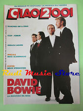 rivista CIAO 2001 24/1989 POSTER Bruce Springsteen Ramones David Bowie  No cd