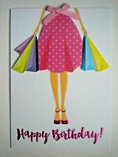 "C.R.GIBSON ~ EMBELLISHED GLITTERY ""HAPPY BIRTHDAY!"" GREETING CARD + ENVELOPE"