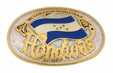 Honduras Latin America Country Flag Belt Buckle Central  Nation Mens Fashion New