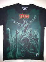 DIO T-Shirt RARE Embroidered Logo Black Sabbath Judas Priest Iron Maiden Heavy