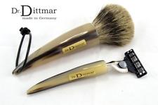 DR. DITTMAR Germany Hornspitzen Rasierpinsel & Rasierer Mach3 im Set Irish Horn