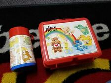 Care Bears 1983 Vintage Lunchbox Red with Thermos by Aladdin - Lunch Box