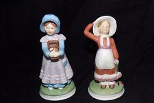 Vintage Holly Hobbie Ceramic Figurines 1990 Summit Collection Set of 2