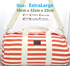 RED EXTRA LARGE Canvas Carry on School Gym Travel Overnight  Duffle Bag Carbin