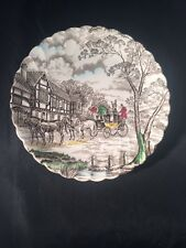 More details for myott royal mail coaching scene hand engraving fine staffordshire ware england