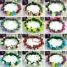 Rose Flower Crown Headband Wedding Prom Beach Floral Garland Hairband For Girl