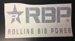 "ROLLING BIG POWER *New Logo RBP 12"" SILVER Die Cut STICKER DECAL 6x12"" #900-12-S"