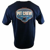 TOMMY BAHAMA Men's T-Shirt - PIT CREW, THRILL OF THE GRILL - BBQ Grill - Navy