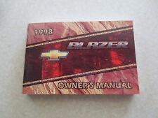 1998 Chevrolet Blazer owners manual - Chev