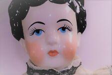 "A21 34"" Vintage German Antique Victorian Porcelain Bisque China Head Lady Doll"