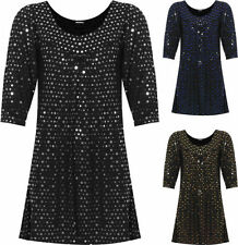 Polka Dot Long Sleeve Machine Washable Tops for Women