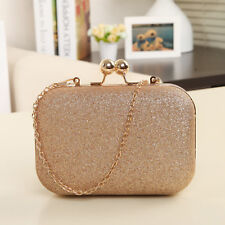 Women Party Wedding Clutch Luxury Purse Sparkling Evening Prom Bag Chain Wallet