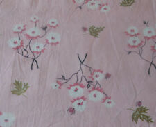 Vintage 50's Pink Floral Insect Lady Bug Cotton Fabric ~  unique pattern